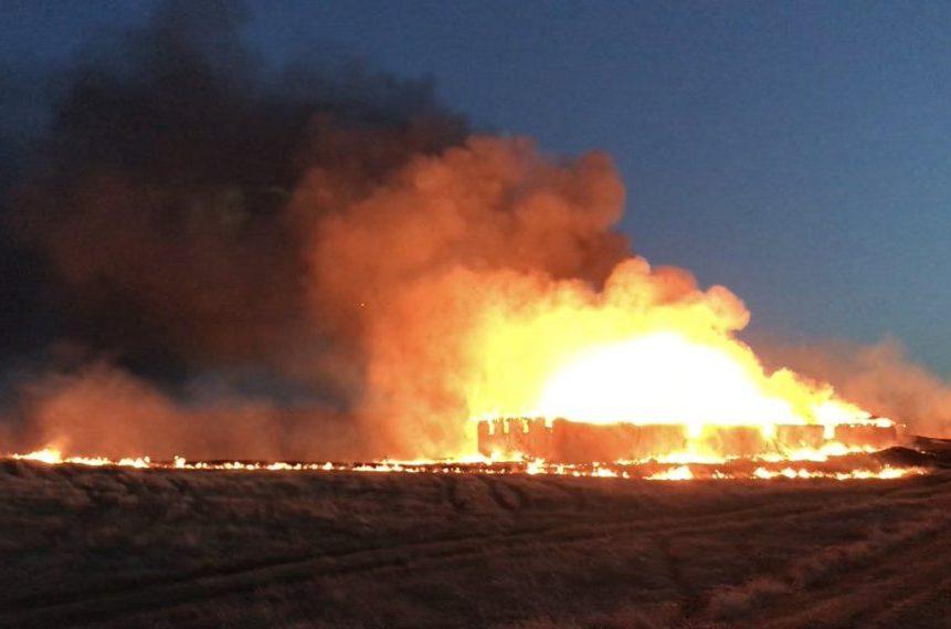 Fire destroys landmark red barn near Lumsden