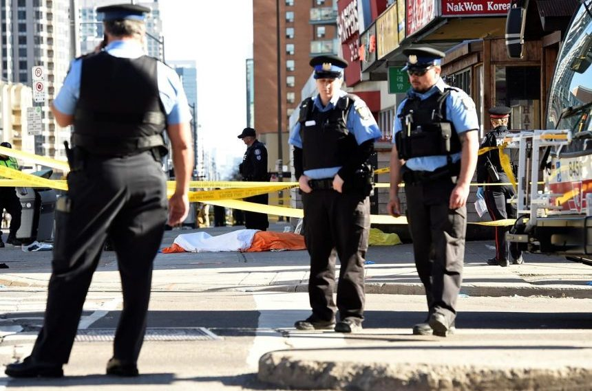 Toronto in mourning day after van attack left 10 dead, 15 injured