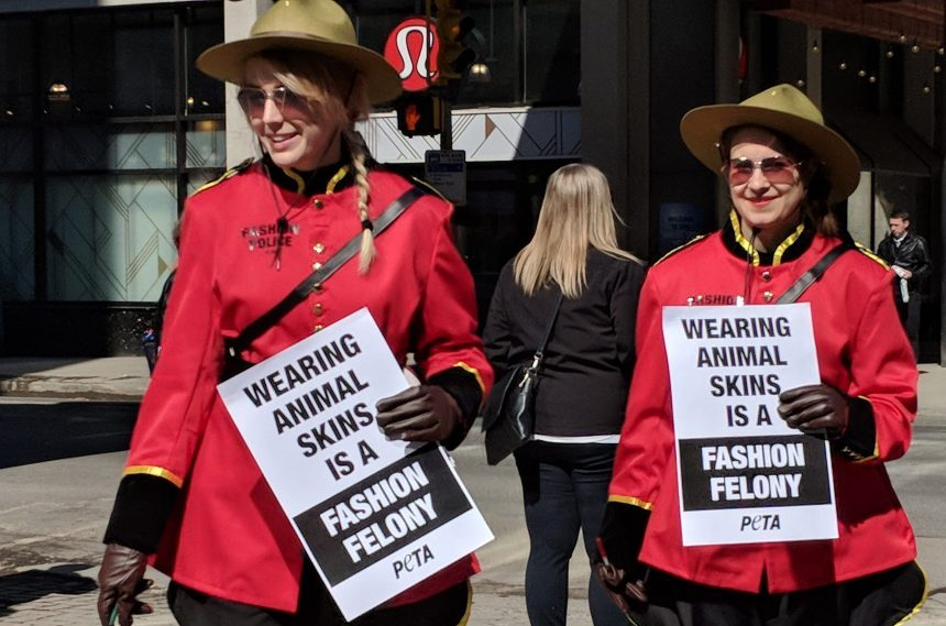 PETA's 'fashion police' hand out fake tickets