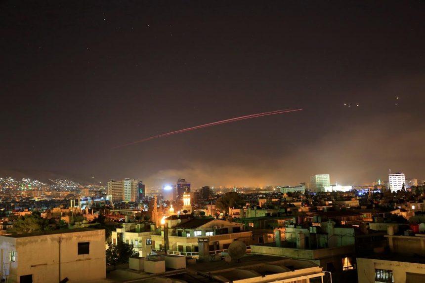 Explosions rock Syrian capital as Trump announces strikes