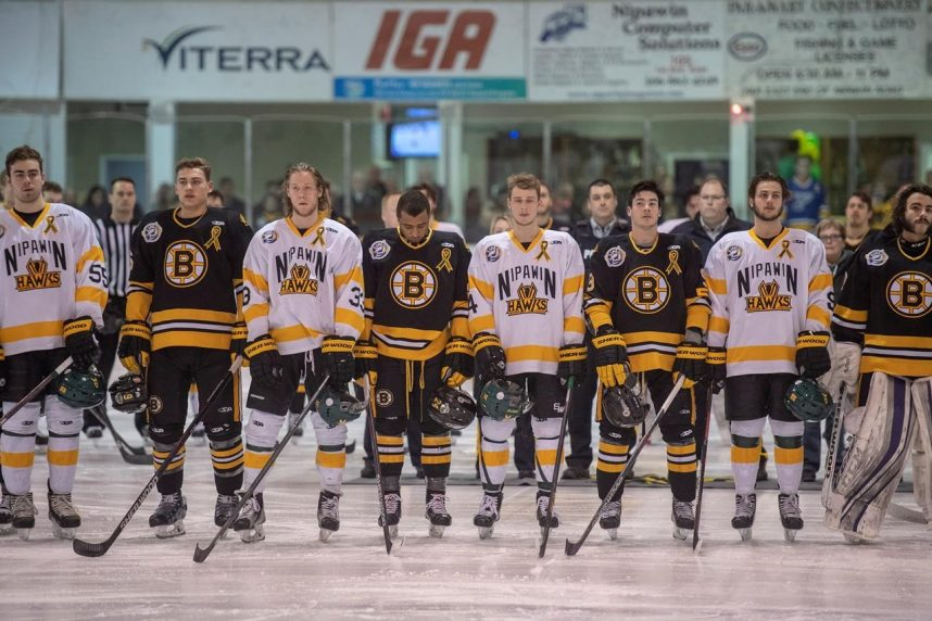 Moment of silence held to honour Humboldt Broncos as SJHL playoffs resume