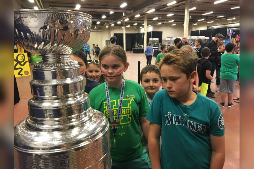 Regina kids visit Stanley Cup at Memorial Cup fan fest