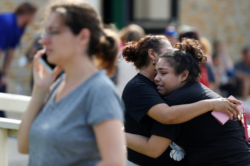 Gunman opens fire in Texas high school, killing up to 10