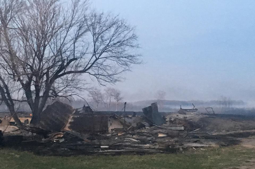 Grass fire destroys homes on Standing Buffalo First Nation