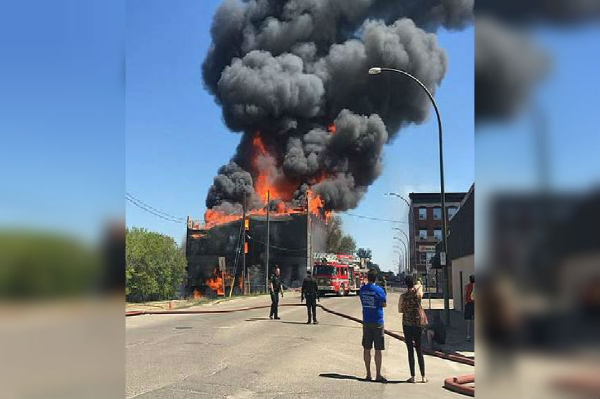 Major fire in downtown Brandon destroys Christie's Building