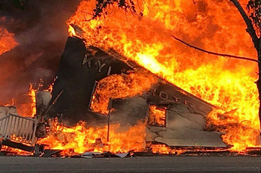Fire destroys only hotel left in Kyle, Sask.