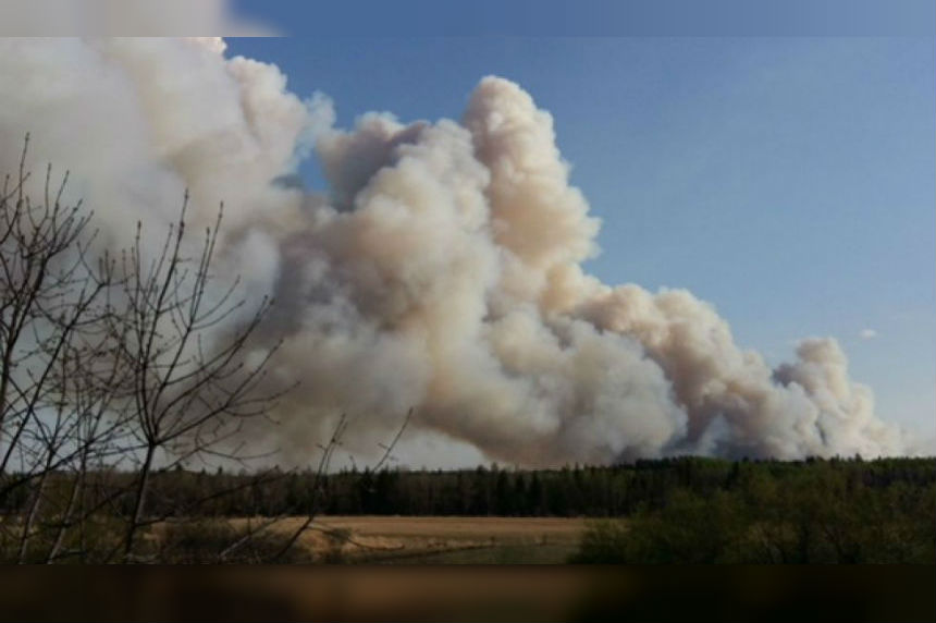 Wildfire evacuation order lifted for Crutwell, towns remain on standby