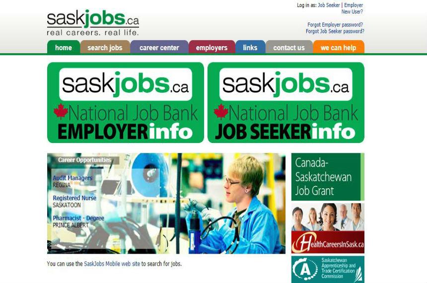 Saskjobs website back online temporarily after complaints
