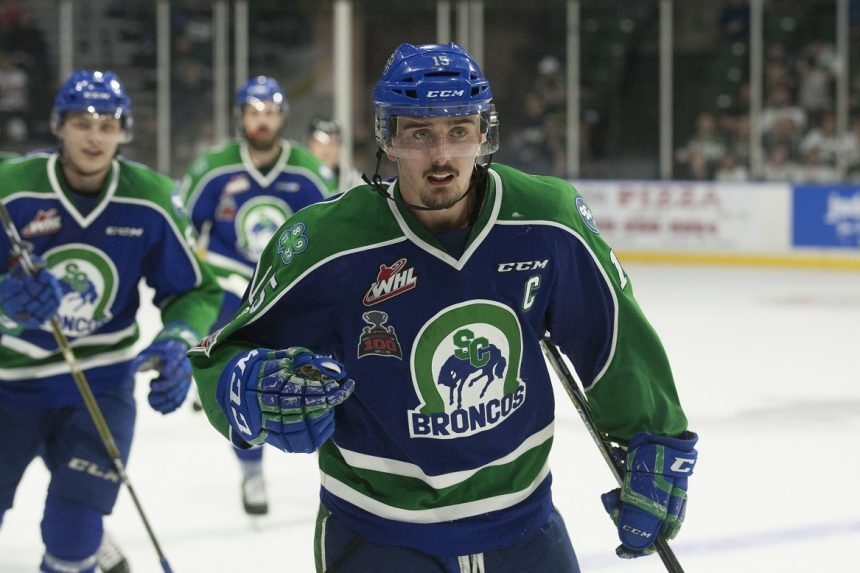 Gawdin's hat trick lifts Broncos to OT win in Game 3