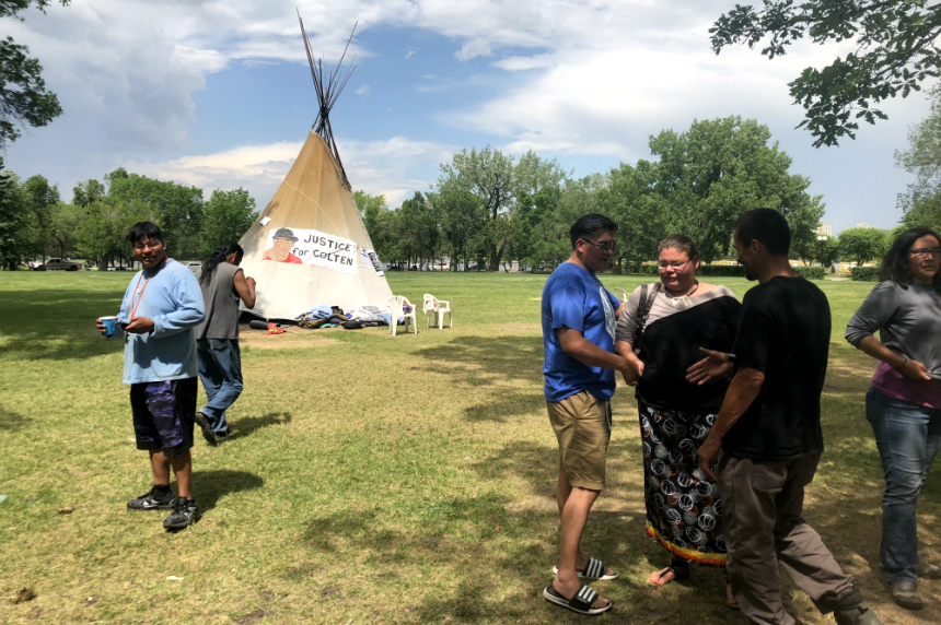 FSIN, First Nations chiefs show support for activist camp