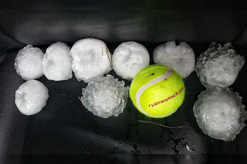 Violent storm system strikes southeast Sask.