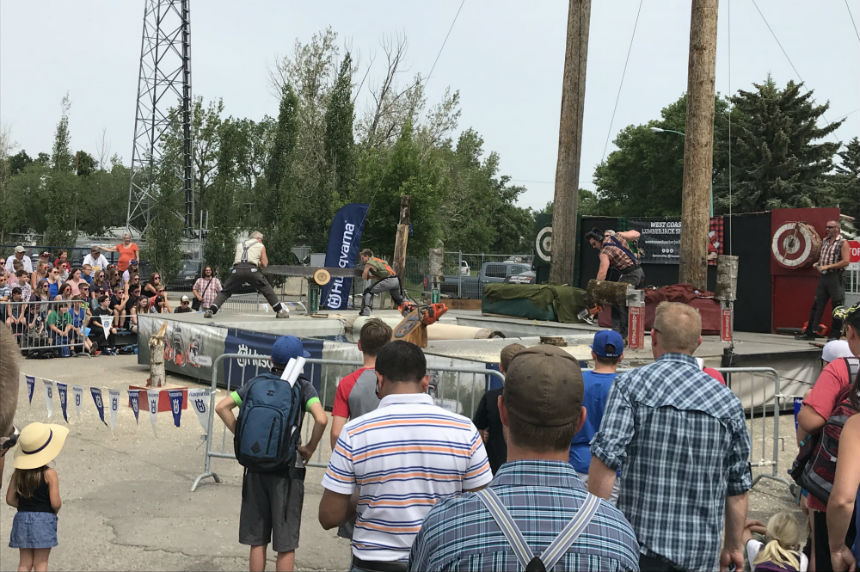 Lumberjacks show off at Farm Progress