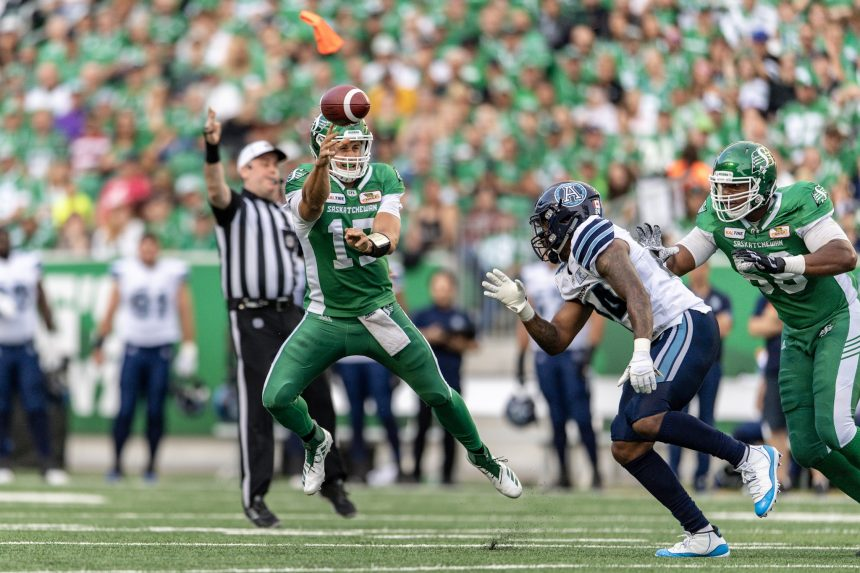 Roughriders offence is going long with Collaros' return