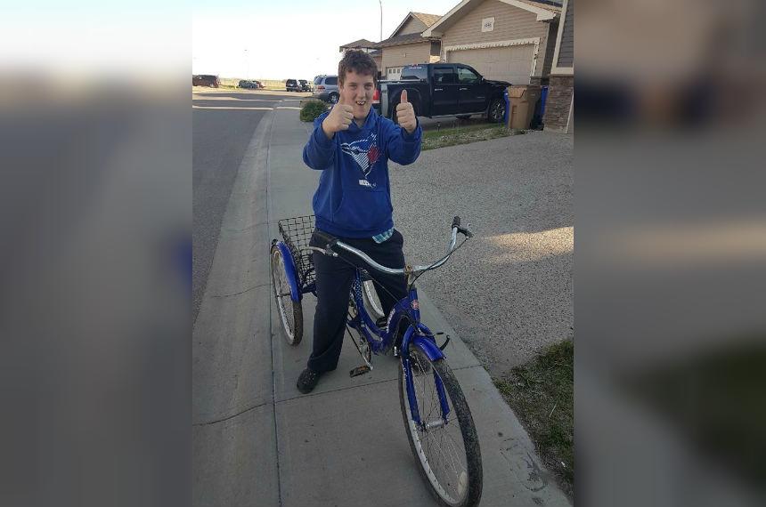 Regina boy thrilled with return of stolen adult tricycle