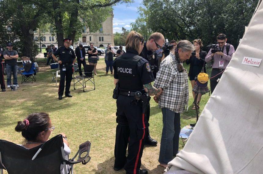 Arrests made during Sask. Legislature protest camp eviction