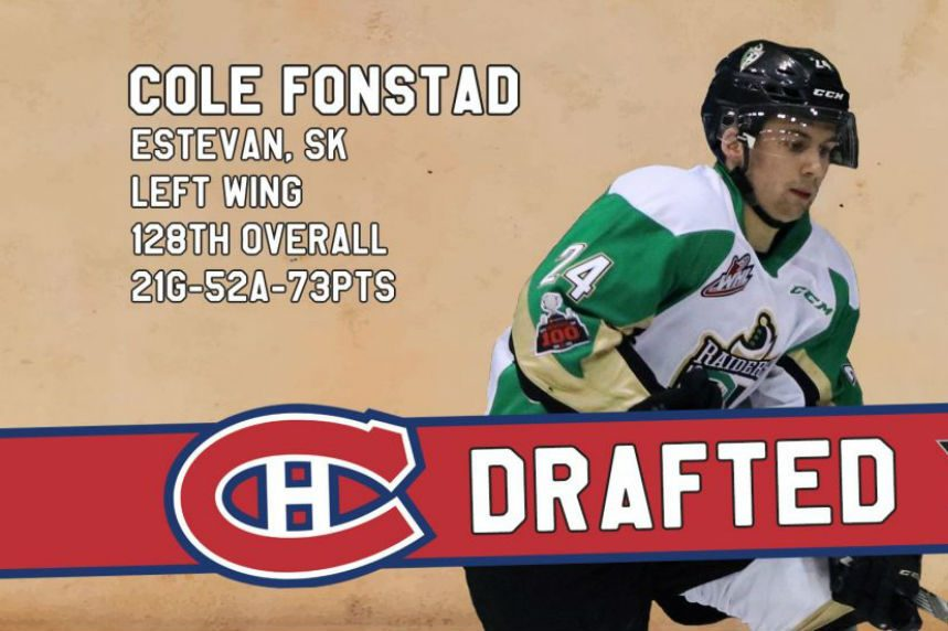 Fonstad heads to Montreal in NHL Entry Draft