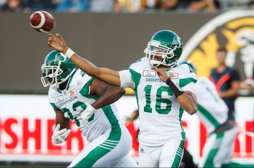 Brandon Bridge settles in to lead Roughriders over Tiger-Cats