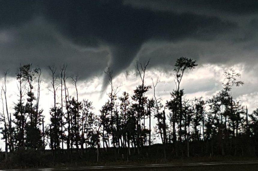 Funnel clouds liven up Sask. skies
