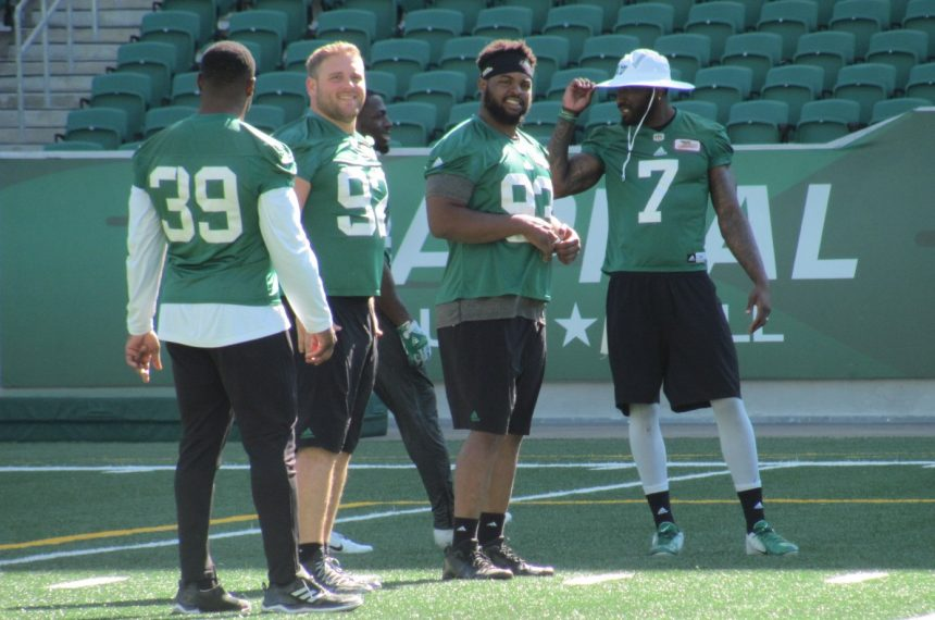 Brooks fitting in just fine on Riders defensive line