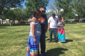 Family of Colten Boushie at Powwow