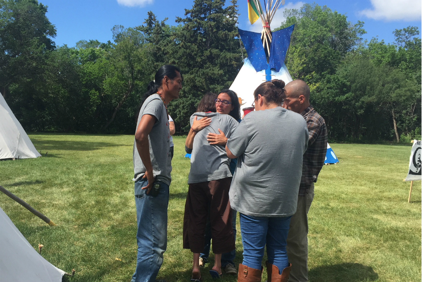 Protest camp remains after Sask. government meeting