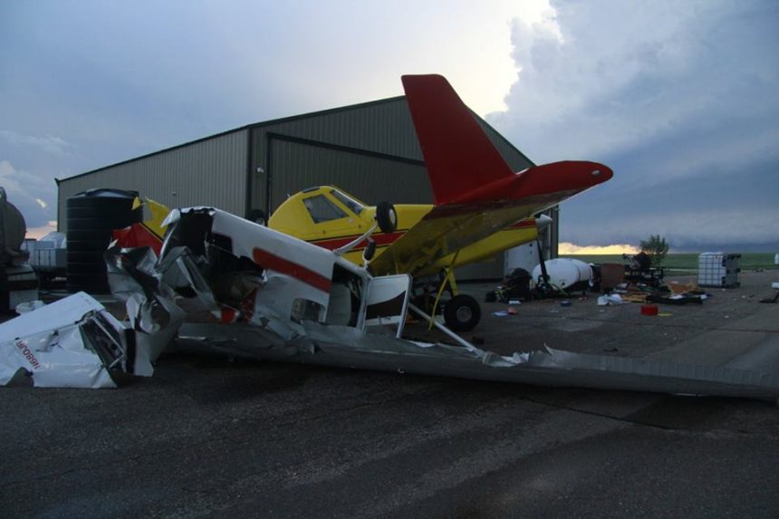 Tornado devastates Montana town south of border