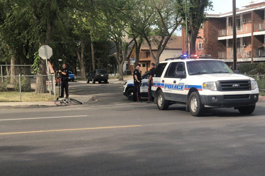 Cyclist seriously injured after bike, vehicle crash in Regina