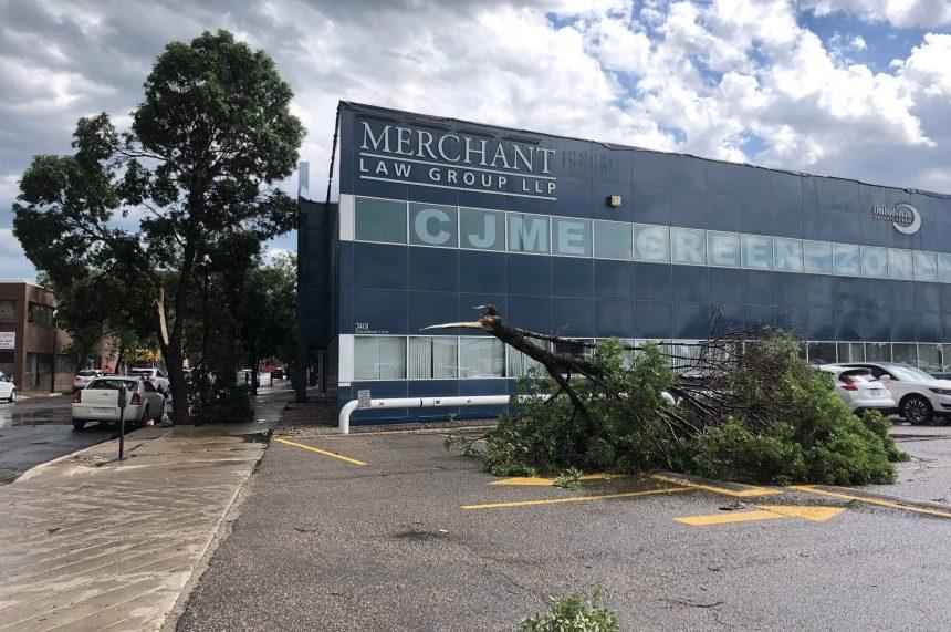 Powerful flash storm wreaks havoc around Regina