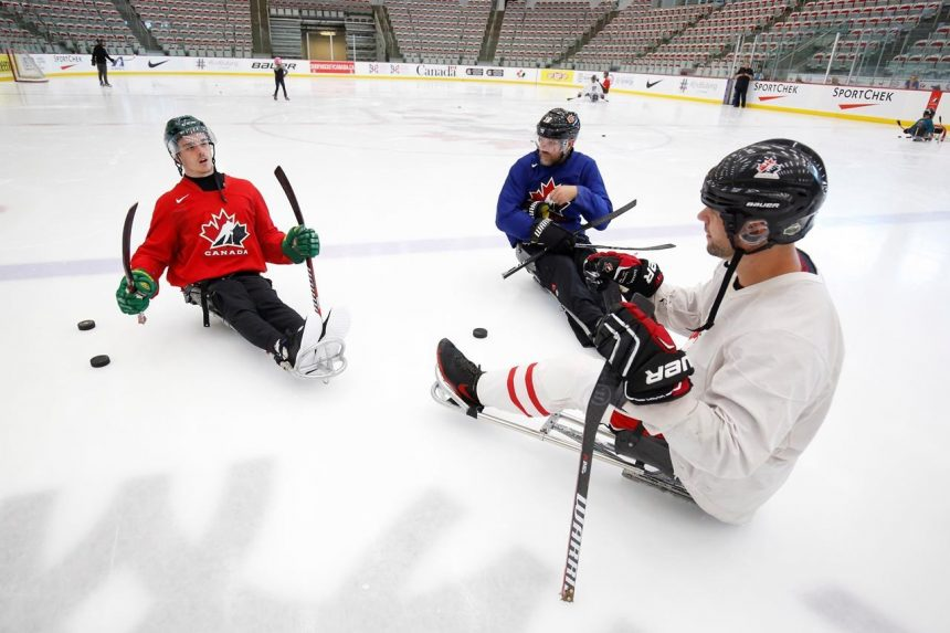 'I'll get better': Paralyzed Broncos player working to improve at sledge hockey