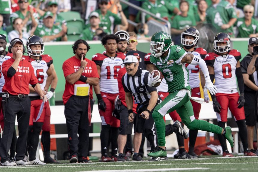 A 40-27 win against Calgary had the Roughriders dancing