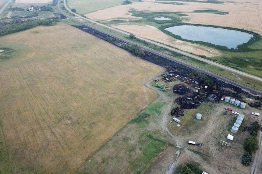 Highway 1 near Moosomin open after fire