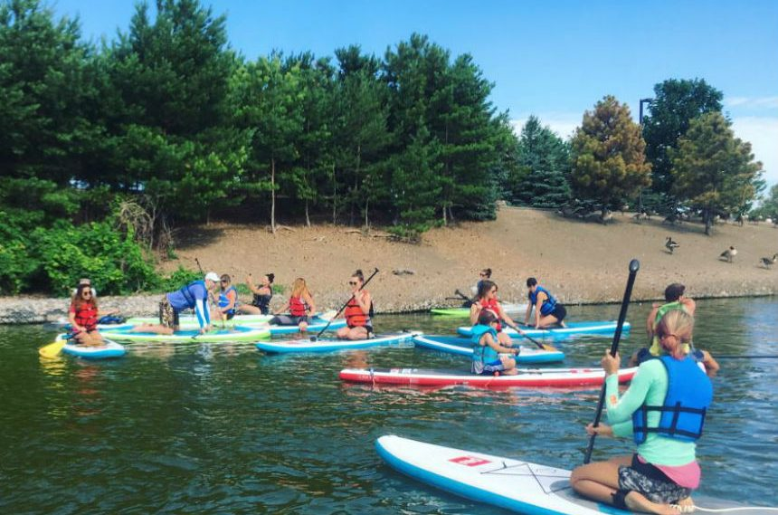 Stand up paddle boarding could help beat the heat