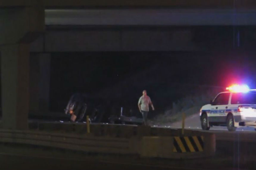 VIDEO: Man has serious injuries after Ring Road rollover