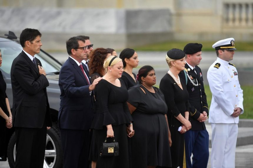 McCain ends 81-year journey with burial at Naval Academy