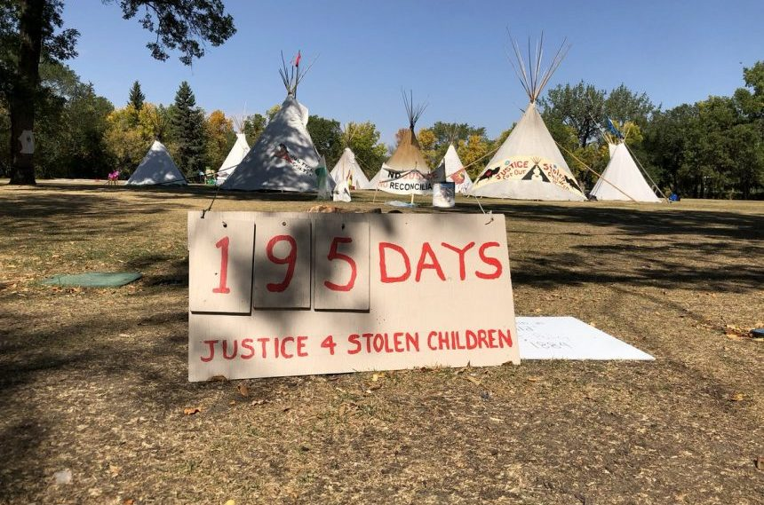 Police chief expects Wacana Park teepees to come down soon