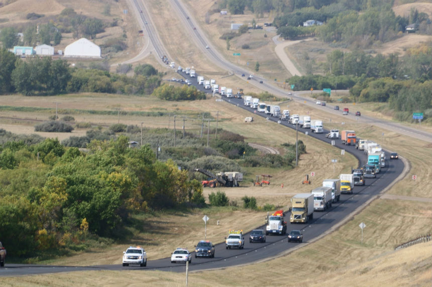 Truck convoys take to Sask. highways to support Special Olympics
