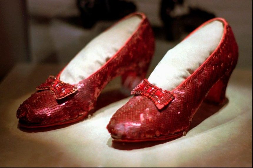 Sting operation recovered Dorothy's stolen ruby slippers