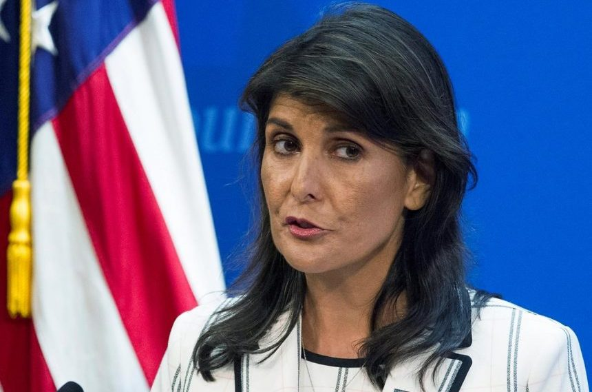 Trump says UN ambassador Haley to leave at end of year