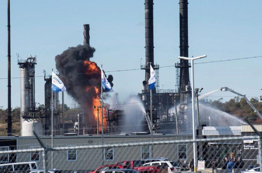 Fire, smoke fill Saint John sky after oil refinery blast: 'My whole house shook'