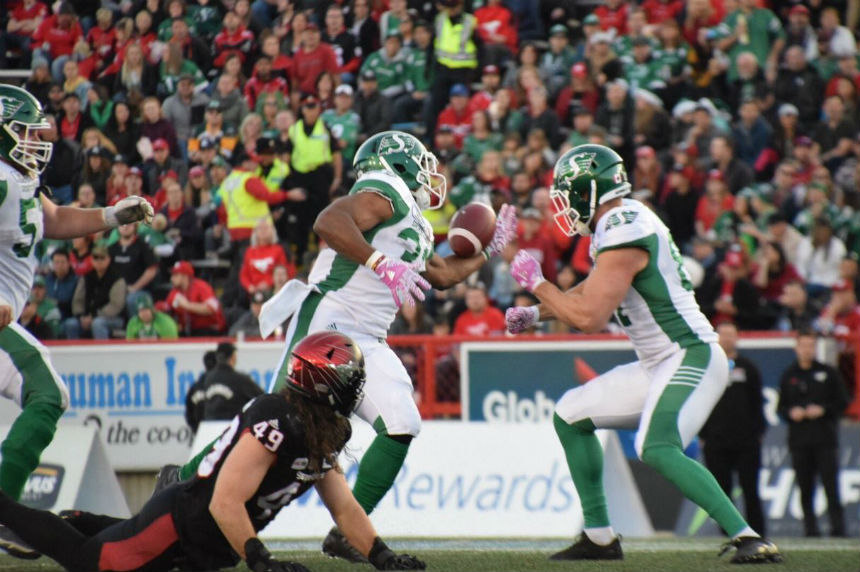 Saskatchewan Roughriders rebound with 29-24 win over host Calgary Stampeders