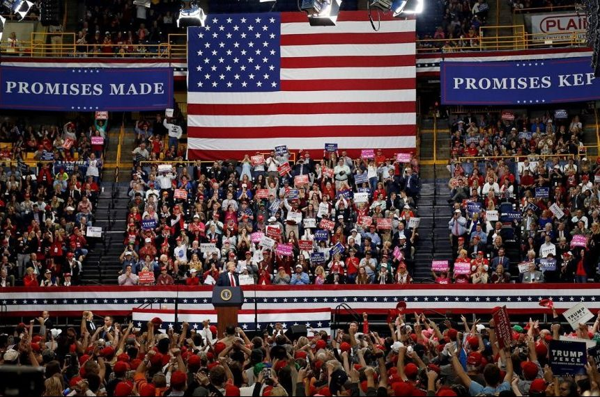 'Everything's at stake' on eve of first Trump-era elections