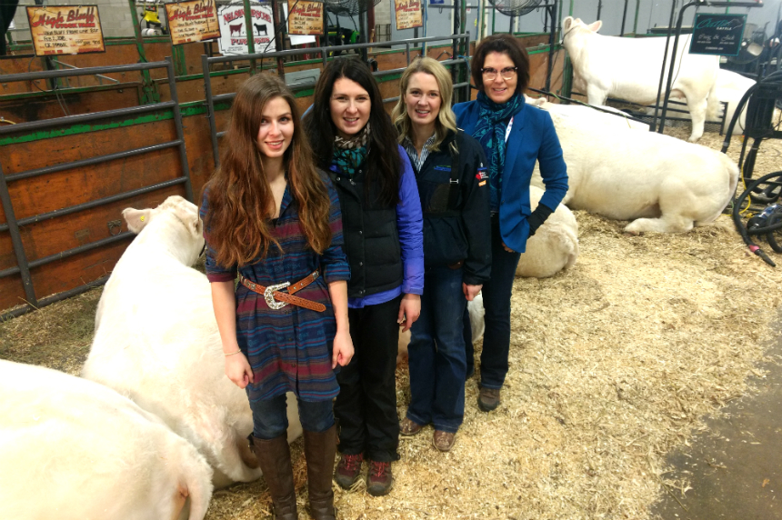 Family of cattlewomen show at Agribition