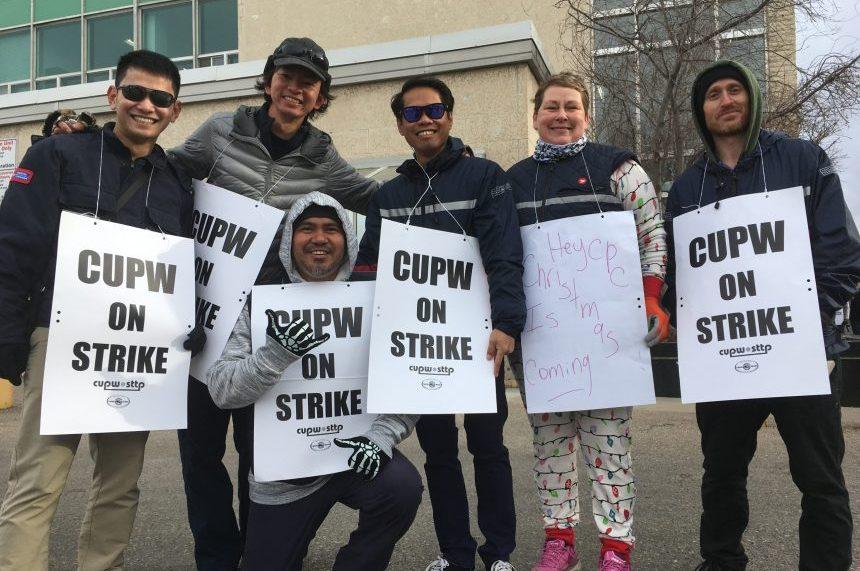 Postal workers on picket lines, rotating strike hits Regina