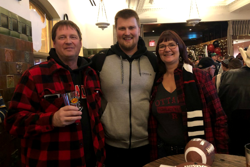 Regina native making Grey Cup debut with parents at his side