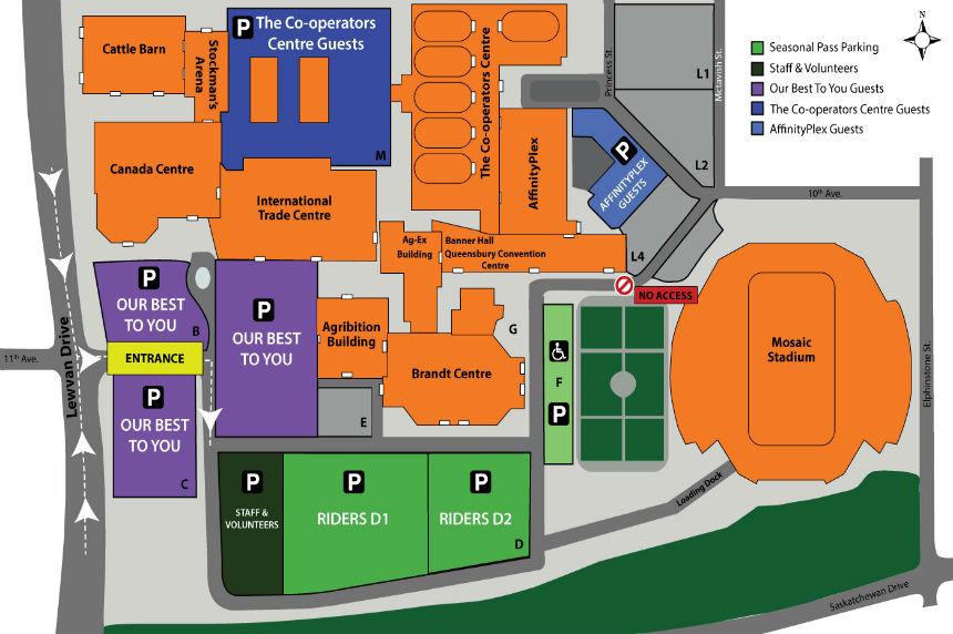 3 events, 1 parking lot: Evraz Place Sunday parking plan