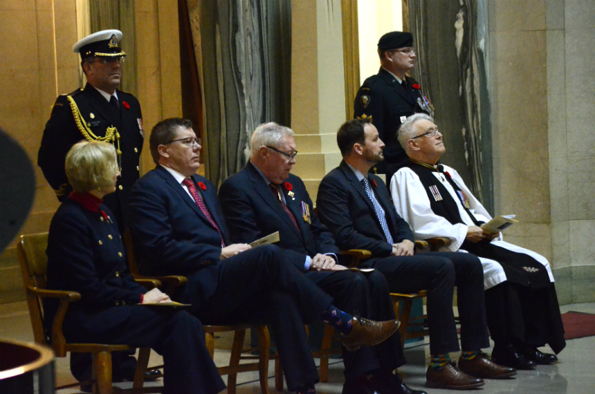 Service at legislature to mark century since First World War