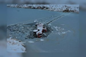 Submerged truck Swift Current RCMP