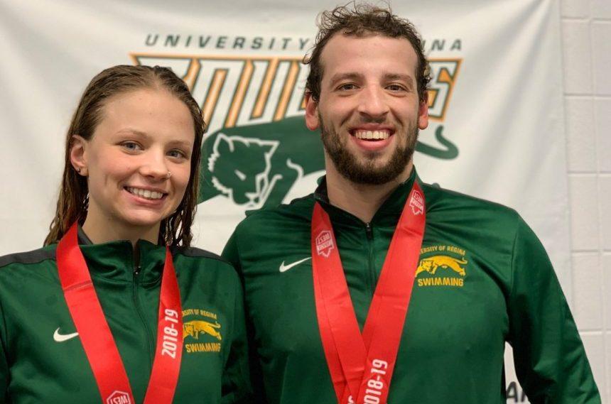 U of r cougars swimmers claim 3 bronze medals 980 cjme University of regina swimming pool