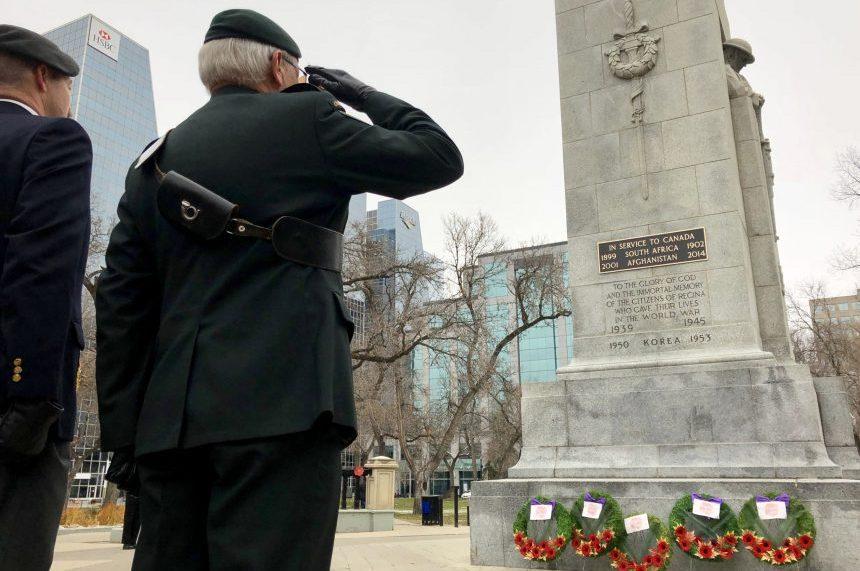 Regina cenotaph dedicated to homage to the Boer War, Afgan veterans