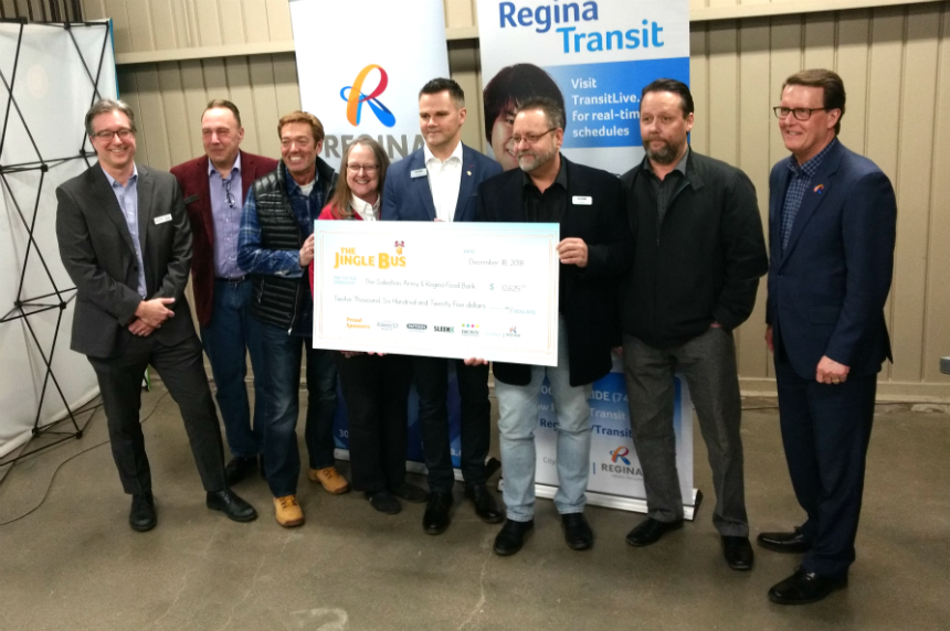 Regina Transit's Jingle Bus raises $12K for two charities